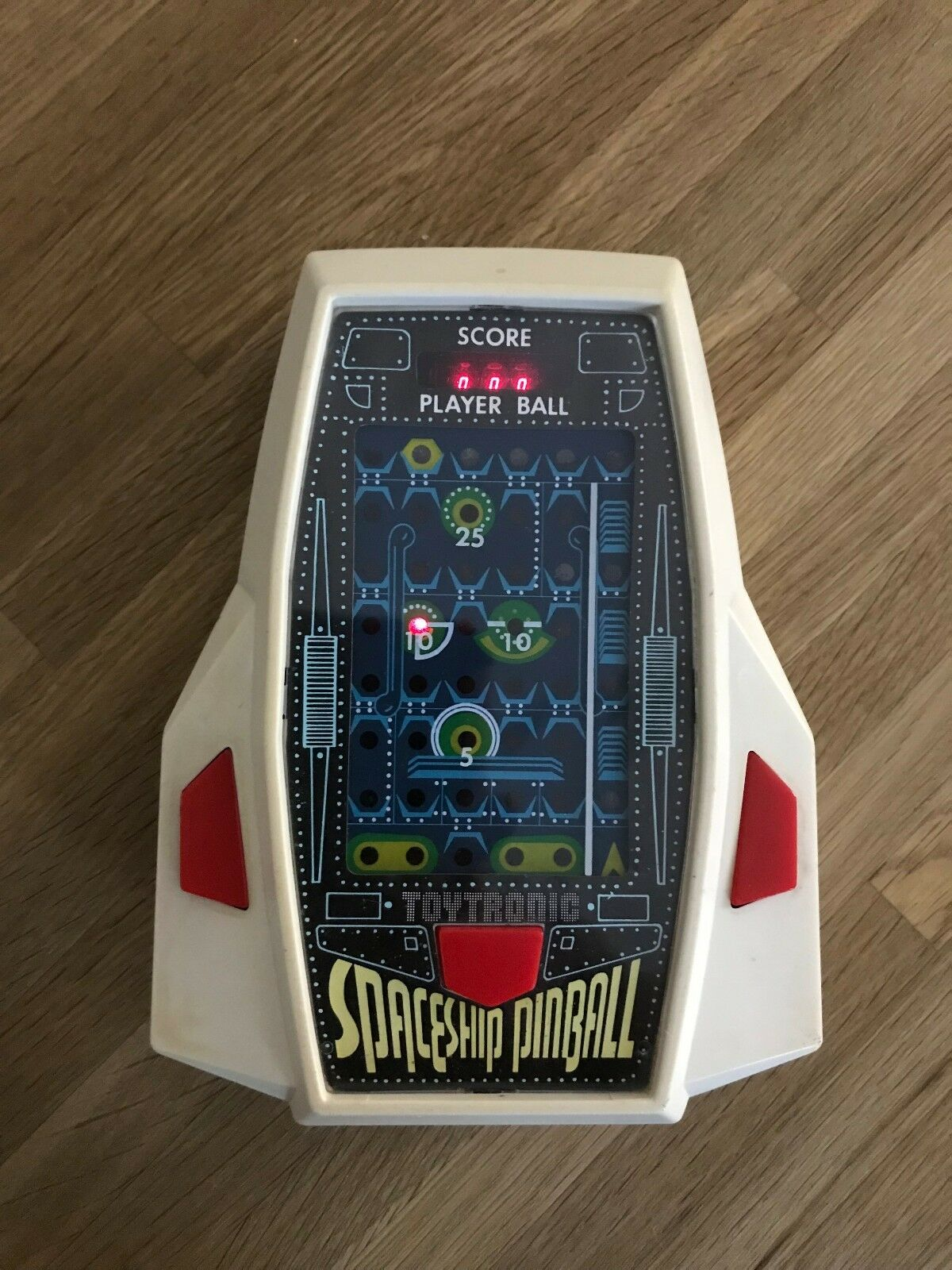 Ultra Rare Toytronic Spaceship Pinball Vintage 1980 LED H Held Game - N. Repair