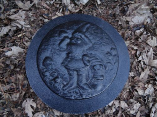 Gnome elf plaque mold decorative Small stepping stone plastic mould