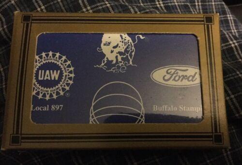 FORD MOTOR COMPANY UAW PLAYING CARDS MIB Buffalo Local 897