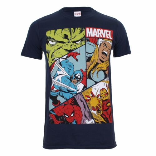 "Mens Marvel /""Heros Grid/"" T-Shirt"