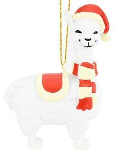 Tree-Buddees-Cute-Xmas-Llama-Animal-Resin-Christmas-Ornament-Ornaments-Llama-039-s