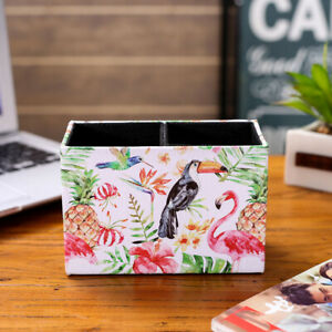 Ordinaire Details About Tropical Summer Pink Palm Leaf Decor Pencil Cup Pen Holder  Office Desk Supply