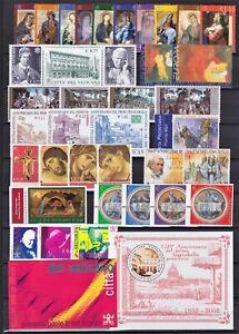 Vaticano 2002 Annata completa 37 valori, 1 foglietto, 1 libretto nuovi MNH**
