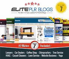 Instant Niche Plr Wordpress Blogs Volume 7 10 Fully Loaded Blogs