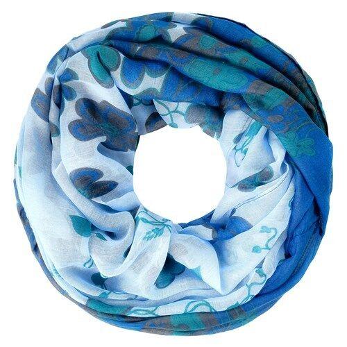 Più facile da donna tubo scialle Infinity Loop Scialle Sciarpa Fiori Flower tube