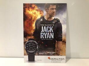 Hamilton Khaki Feld Jack Ryan Genossenschaft Display Plakette 29,5 Cm X 21 Cm