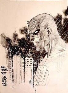 Daredevil-by-Jim-Lee-Marvel-Comics-Headsketch-Signed-Sketch-Original-Art