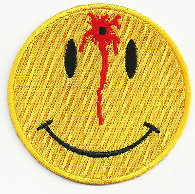 Smiley Face Embroidered Iron On Patch 3 INCH Emoji 051-F