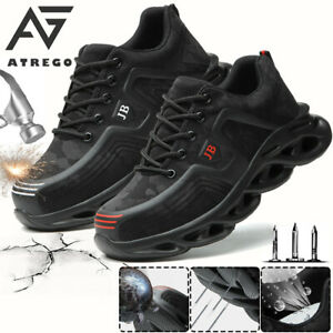 AtreGo Mens Mesh Work Safety Shoes