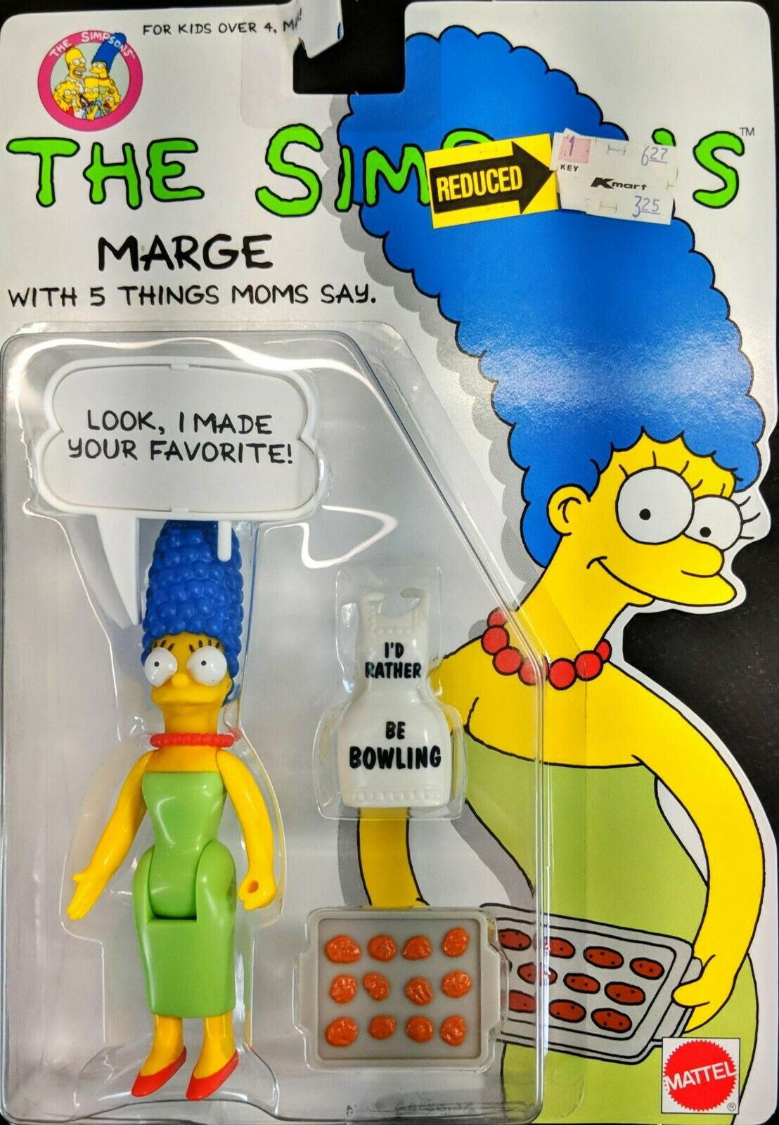 1990 Simpsons Marge Mattel Sealed Action Figure on Card