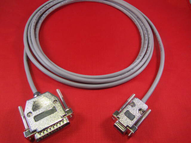 12 Ft Fanuc RS232 Serial Cable DB9F to DB25M CNC DNC Send Program for PC//Laptop.