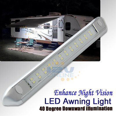 Carrfan 12V RV LED Awning Porch Light Waterproof Interior Wall Lamps Light Bar for Motorhome Caravan RV Van Camper