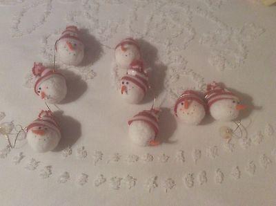 Jolly Snowman Christmas Tree Garland White 44 Inches Long! PLUSH SNOWBALLS