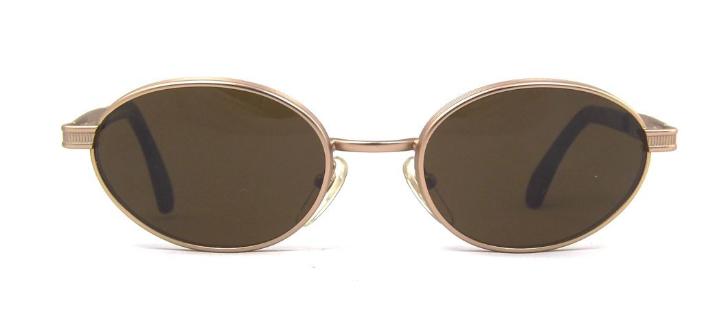 Alaska Adventure 219 Bold Oval Retro Black Gunmetal Metal Sunglasses Italy NOS
