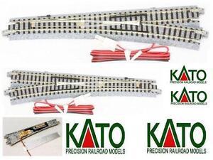 KATO-20-203-N-1-SCAMBIO-ELETTRICO-DESTRO-15-R718-con-CAPA-DE-BALASTO-y-el-cable