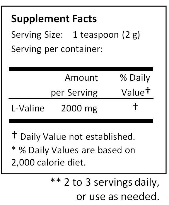 NuSci L-Valine pure powder 1000g (2.2lb) Valine BCAA Muscle Muscle BCAA building USP cfe859