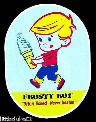"/""FROSTY BOY/"" OFTEN LICKED NEVER BEATEN VINYL Sticker Decal Ice Cream"