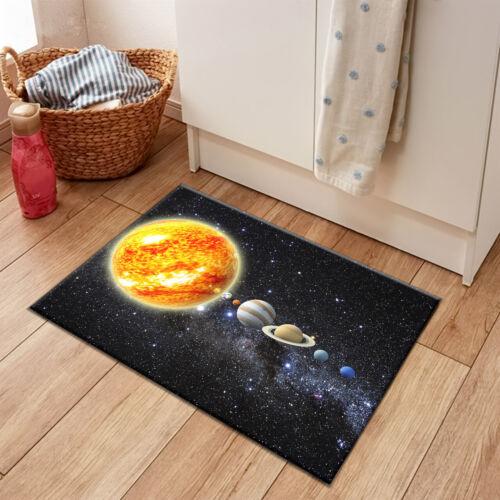 Starry Sky Stars Solar System Area Rugs Bedroom Carpet Kitchen Floor Mat Doormat
