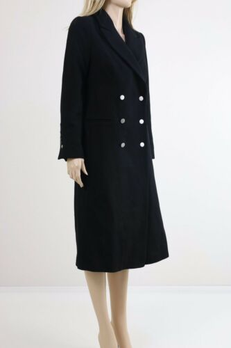 Black Longline Pimkie Tailored Women's Small Winter Coat Uk Size With Buttons EqwFwC1n5O
