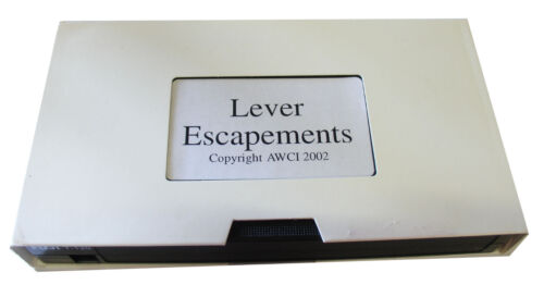 NEW AWCI Lever Escapements by Jim Lubic VHS C-110
