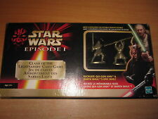 STAR WARS (2) FIGURINES FIGURES ETAIN PEWTER CLASH OF THE LIGHTSABBERS CARD GAME