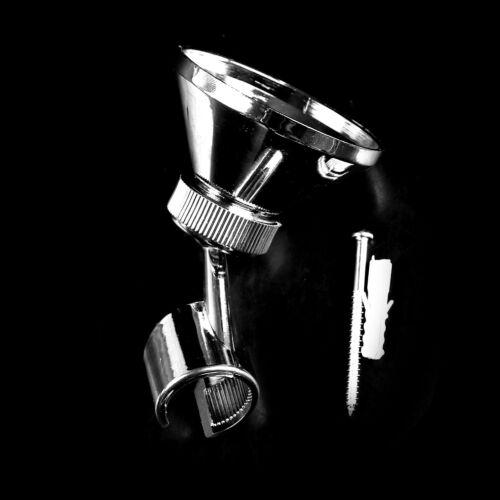 Bathroom Adjustable Silver Chroming Hose Shower Head Holder SupportWallMountTDCA