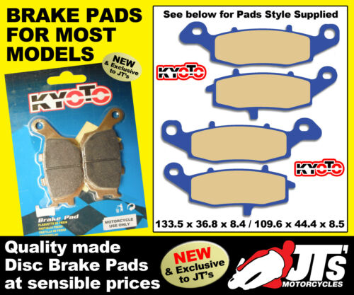 FRONT FULL SET DISC BRAKE PADS SUIT SUZUKI SV650 X Y K1 K2 Naked Non ABS 99-02
