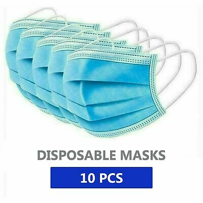 Keshiwo 10//200PC Disposable Face Mouth Cover Dental Industrial 3Ply Ear Loop