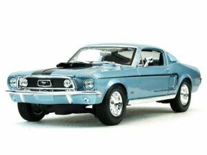 FORD-Mustang-GT-Cobra-Jet-1968-bluemetallic-Maisto-1-18