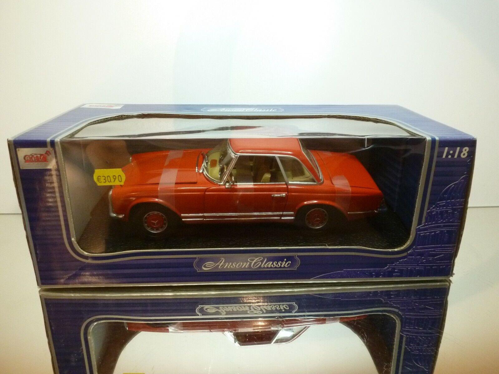 ANSON 30389  MERCEDES BENZ 280 SL - RED 1 18 - EXCELLENT IN BOX