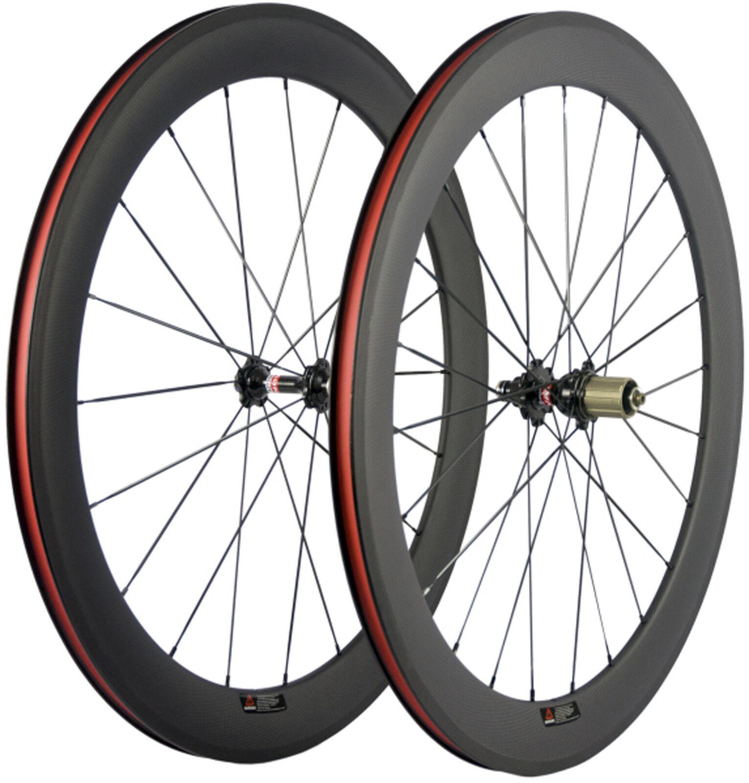 Full Carbon Fiber Wheels  Road Bike Wheelset 60mm Depth 23mm Width 700C Bicycle  convenient