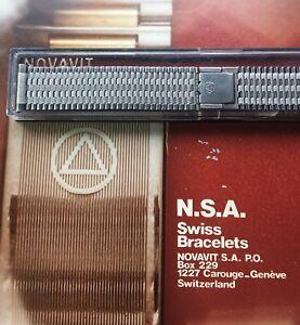 Novavit-7-row-steel-Swiss-NSA-vintage-watch-band-18mm-19mm-or-20mm-ends-1960-70s