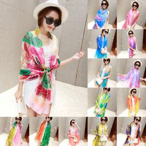 8a03fa83fb350 Image is loading Fashion-Women-Summer-Chiffon-Floral-Long-Scarf-Silk-