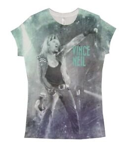 Motley Crue-Tommy Lee-Sublimation All Over Print-All Bad Things  White T-shirt