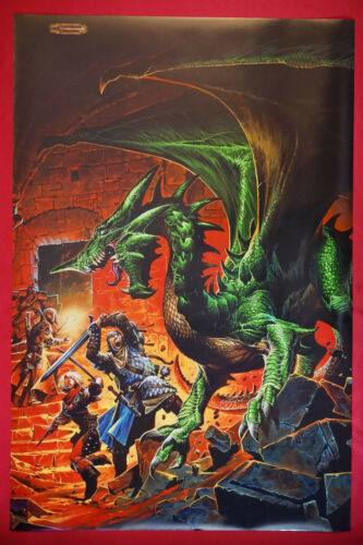 Dungeons and Dragons Deadly Encounter Green Dragon D/&D Picture Poster 24X36 DDDE