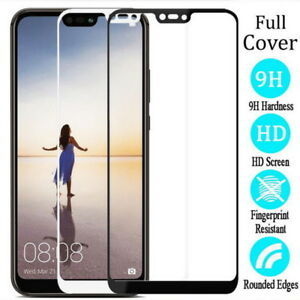 For Huawei P20 Plus/Pro/Lite Full Cover 9H Tempered Glass Screen Protector Cover