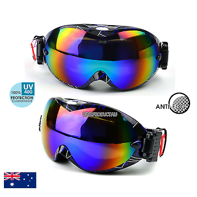 Adult Anti-fog Wind Dust UV400 Surfing Jet Ski Snow Snowboard Goggles Sunglass