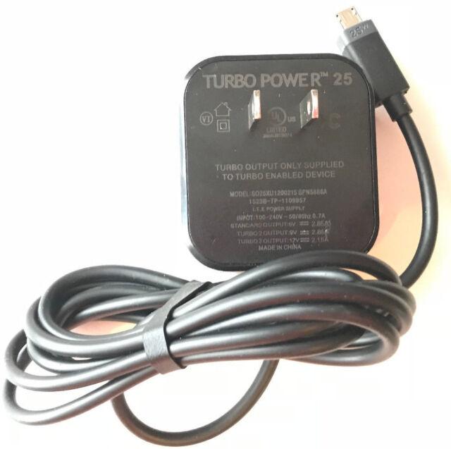 Motorola Turbo Power 25 Micro USB Charger for Moto Droid Turbo Moto X Moto G