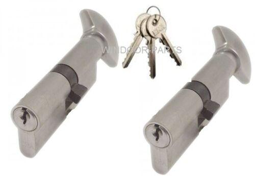 UAP ANTI SNAP Thumb Turn Euro Cylinder Lock KEYED ALIKE FOR UPVC  DOORS 40//40