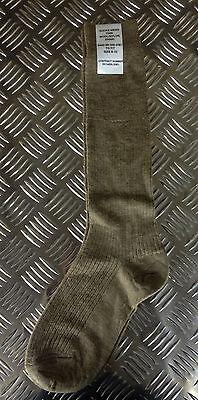 Genuine British Army Wool / Nylon - Khaki Long Thin Socks Lot - BRAND NEW