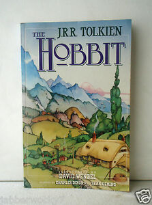 The-Hobbit-Illustrated-by-David-Wenzel-1991-PB-comic-book-J-R-R-Tolkien