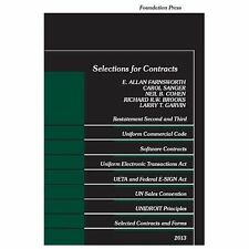 Selected Statutes: Selections for Contracts 2013 by Carol Sanger, E. Allan Farn…