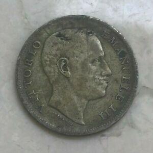 1907 Italy 1 One Lira - Nice Silver