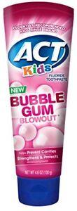 Paquet-de-2-Act-Enfants-Chewing-Gum-Eruption-Dentifrice-136ml-Chaque
