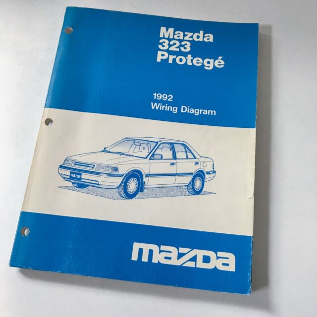 1992 Mazda 323 Protege Factory Oem Wiring Diagram Workshop