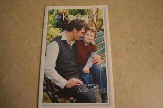kertzer knitting pattern book #454 Family V-neck crew Cardigan men women child