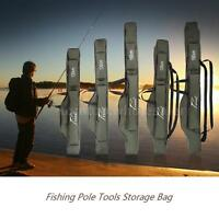 Fishing Rod Case Organizer. Carrier Holder Rack Hooks Pole Storage Bag Best U0o3