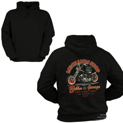 Con Biker Cappuccio Bobber Felpa Custom 4239 Garage Officina Choppers ORqxd4x
