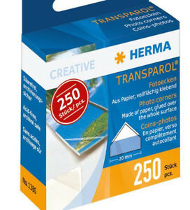 250 Fotoecken selbstklebend von Herma selbstklebend - Reute, Deutschland - 250 Fotoecken selbstklebend von Herma selbstklebend - Reute, Deutschland