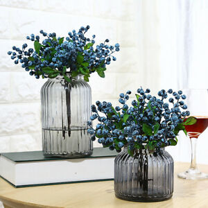 Artificial-Blueberries-Fake-Mini-Berries-Flower-Fruit-Plants-Home-Table-Decor